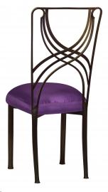 Bronze La Corde with Purple Taffeta Boxed Cushion