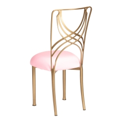 Gold La Corde with Soft Pink Stretch Knit Cushion