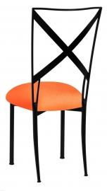 Blak. with Tangerine Stretch Knit Cushion