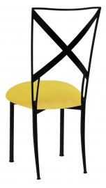 Blak. with Sunshine Yellow Velvet Cushion
