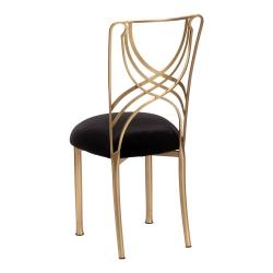 Gold La Corde with Black Velvet Cushion