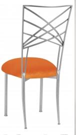 Silver Fanfare with Orange Velvet Cushion