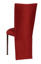Burnt Red Dupioni Jacket with Boxed Cushion on Mahogany Legs