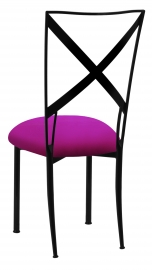Blak. wth Magenta Stretch Knit Cushion