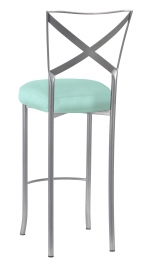 Simply X Barstool with Tropic Teal Taffeta Boxed Cushion