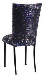 Black Paint Splatter Chair Cover and Cushion on Black Legs