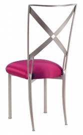 Simply X with Fuchsia Satin Cushion