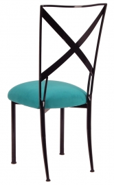 Blak. with Turquoise Suede Cushion