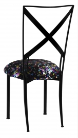 Blak. with Black Paint Splatter Knit Cushion