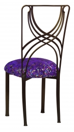 Bronze La Corde with Purple Paint Splatter Stretch Knit Cushion