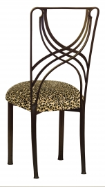 Bronze La Corde with Leopard Boxed Cushion