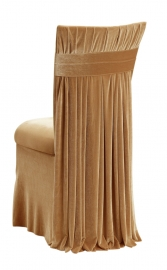 Gold Velvet Empire Chair Cover, Gold Velvet Cushion and Gold Velvet Skirt