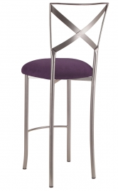 Simply X Barstool with Lilac Suede Cushion