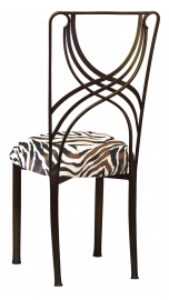 Bronze La Corde with Black and White Zebra Stretch Knit Cushion