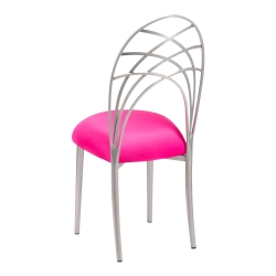 Silver Piazza with Hot Pink Stretch Knit Cushion