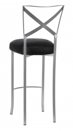Simply X Barstool with Black Leatherette Boxed Cushion