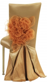 Gold Taffeta BET Dress with Boxed Cushion on Gold Legs
