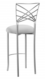 Silver Fanfare Barstool with Silver Stretch Knit Cushion
