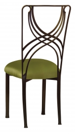 Bronze La Corde with Lime Satin Cushion