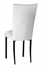White Linette Chair Cover and Cushion on Black Legs
