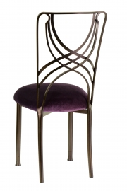 Solar Bronze La Corde with Eggplant Cushion