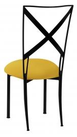 Blak. with Bright Yellow Stretch Knit Cushion