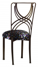 Bronze La Corde with Black Paint Splatter Stretch Knit Cushion