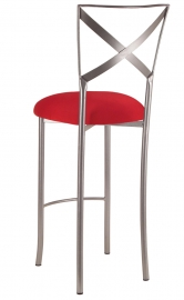 Simply X Barstool with Red Stretch Knit Cushion
