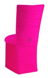 Chloe Hot Pink Stretch Knit Chair Cover with Jewel Band, Cushion and Skirt