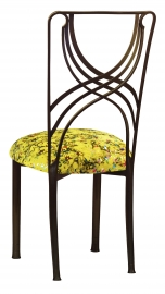 Bronze La Corde with Yellow Paint Splatter Stretch Knit Cushion