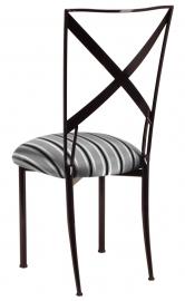 Blak. with Charcoal Stripe Cushion