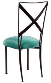 Blak. with Turquoise Velvet Cushion