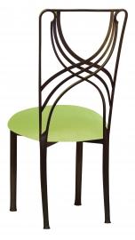Bronze La Corde with Lime Velvet