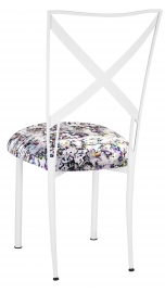 Simply X White with White Paint Splatter Cushion