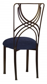 Bronze La Corde with Navy Blue Suede Cushion