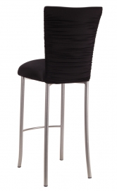 Chloe Stretch Knit Barstool Cover and Cushion on Silver Legs