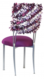 Grapevine with Orchid Stretch Taffeta Cushion on Silver Legs
