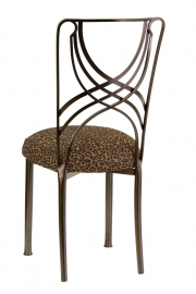 Solar Bronze La Corde with Leopard Cushion