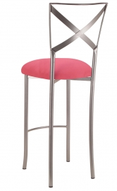 Simply X Barstool with Raspberry Suede Cushion