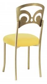 Gold Fleur de Lis with Bright Yellow Velvet Cushion