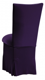 Eggplant Velvet Chair Cover, Cushion and Skirt