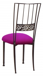 Mahogany Bella Fleur with Magenta Stretch Knit Cushion