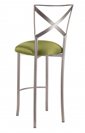 Simply X Barstool with Lime Satin Cushion