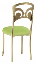 Gold Fleur de Lis with Lime Velvet Cushion