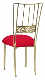 Gold Bella Fleur with Million Dollar Red Knit Cushion