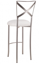 Simply X Barstool with White Stretch Knit Cushion