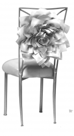 Silver Bridal Bloom with Silver Satin Boxed Cushion on Silver Legs