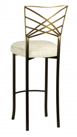 Two Tone Fanfare Barstool with Victoriana Boxed Cushion