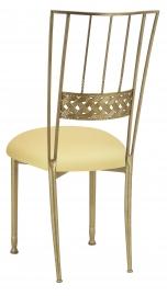 Gold Bella Braid with Buttercream Stretch Knit Cushion
