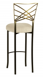 Two Tone Fanfare Barstool with Parchment Linette Boxed Cushion